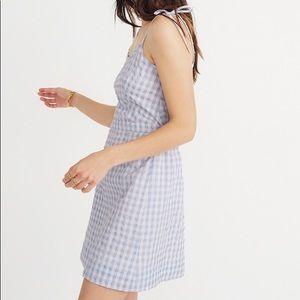 Gingham Tie-Strap Dress